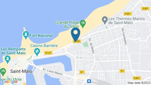 Escale Oceania Saint-Malo Map
