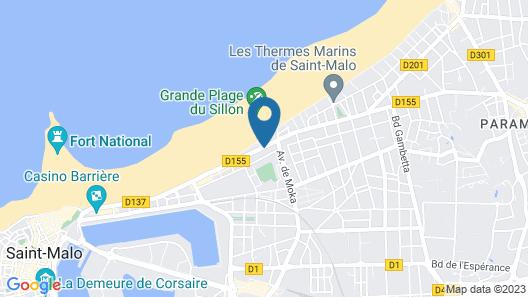 Hotel Kyriad Saint Malo centre Plage Map