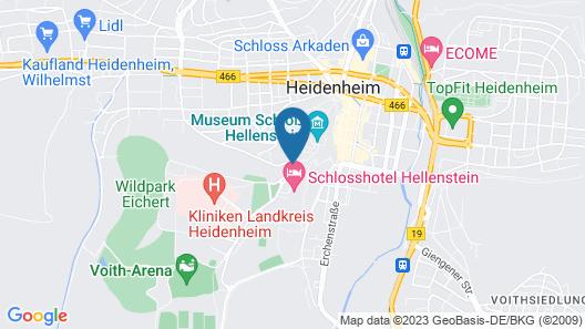 Schlosshotel Park Consul Heidenheim  Map