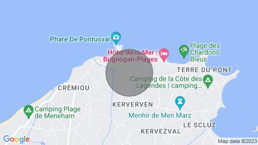 Vacation Home Le Petit Bonheur in Brignogan-plage - 5 Persons, 3 Bedrooms Map