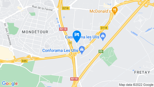 Hotel Campanile Les Ulis Map