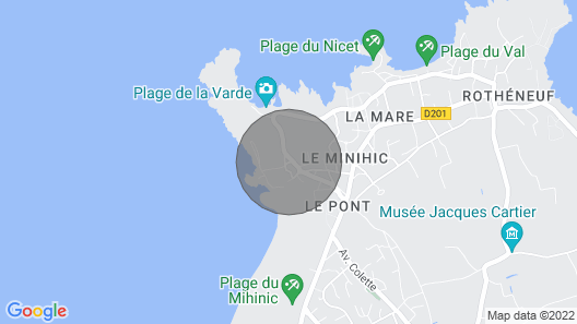La Varde, Saint Malo, apercu mer Map