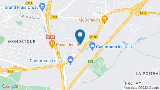 hotelF1 Les Ulis Courtaboeuf Map