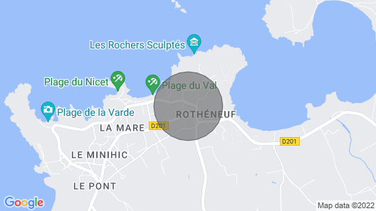 Apartment Roc Eden in Saint Malo - 3 Persons, 1 Bedrooms Map
