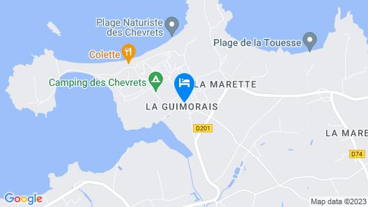 Lécume-maison Confortable et Équipée Map