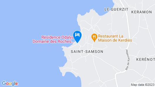 Résidence Odalys Le Domaine des Roches Jaunes Map