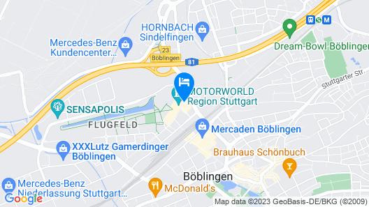 V8 Hotel Motorworld Region Stuttgart, BW Premier Collection Map