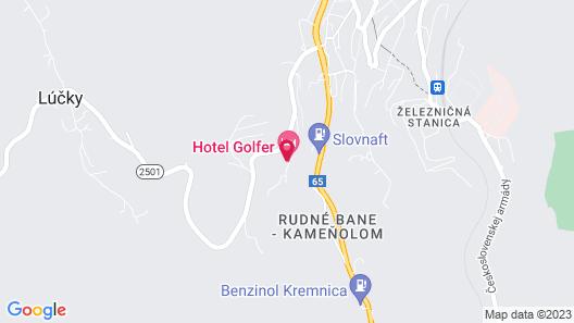 Hotel Golfer Map