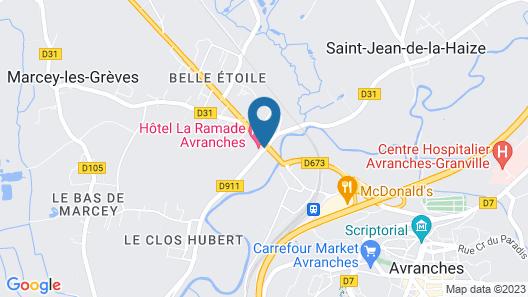 La Ramade Map