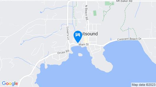 Outlook Inn on Orcas Island Map