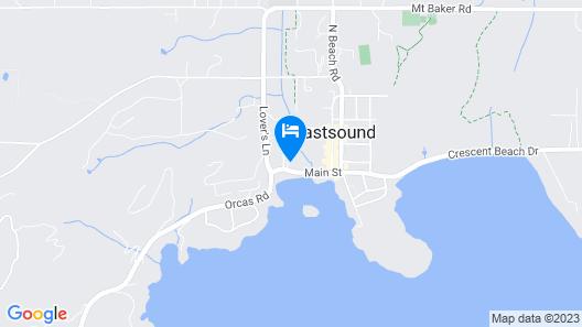 Landmark Inn on Orcas Island Map