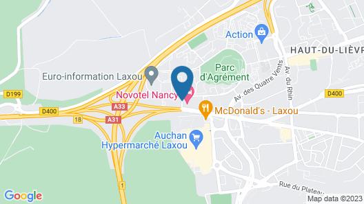 Novotel Nancy Map