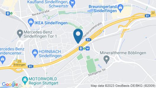 Hotel Stuttgart Sindelfingen City by Tulip Inn Map