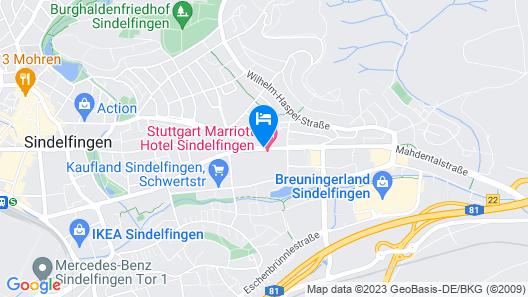 Stuttgart Marriott Hotel Sindelfingen Map