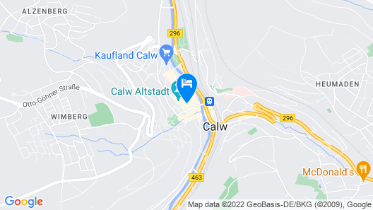 Hotel Ratsstube Calw Map
