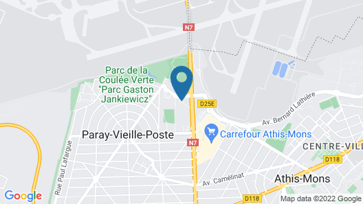 Hotel Kyriad Orly Aéroport Athis Mons Map