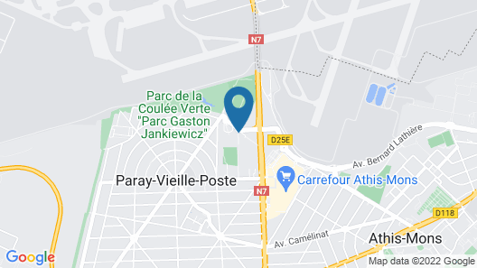 Hôtel Orly Superior Map