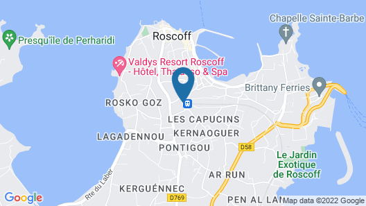 Hotel Regina Roscoff Map