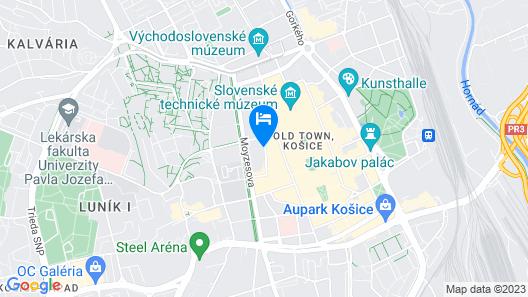 Penzión Hradbová Map