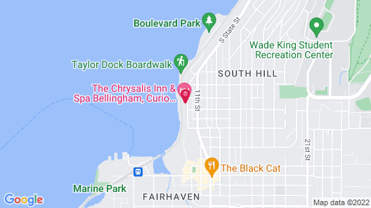 Chrysalis Inn & Spa Bellingham, Curio Collection by Hilton Map
