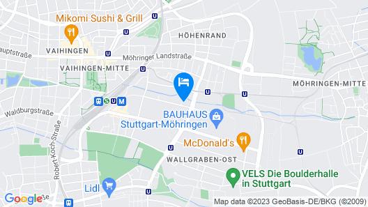 B&B Hotel Stuttgart-Vaihingen Map