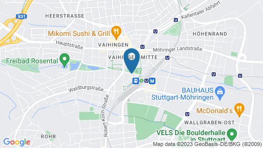 Pullman Stuttgart Fontana Map