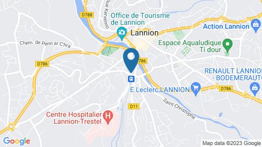 ibis Lannion Cote de Granit Rose Map