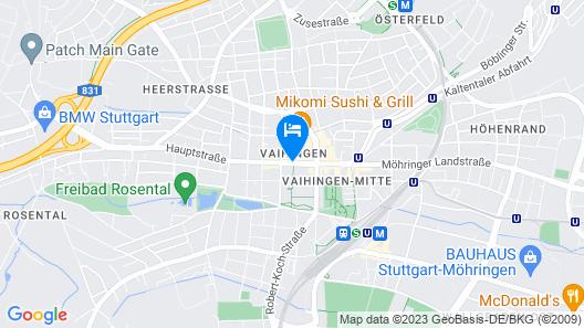 Vienna House Easy MO. Stuttgart Map
