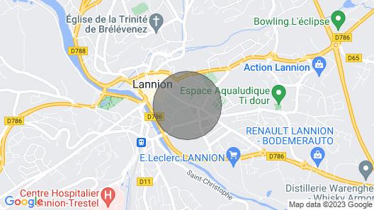 Charming Duplex Lannion Prox Downtown. Ploumanac'h / Perros-guirec Map