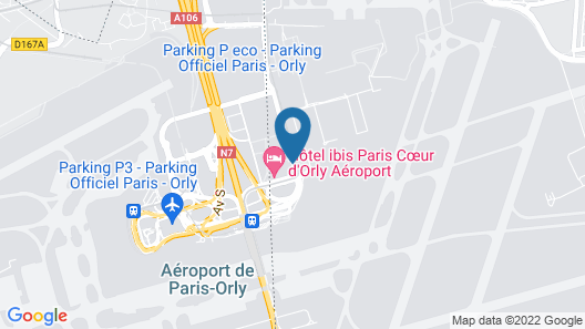ibis Paris Coeur d'Orly Airport Map
