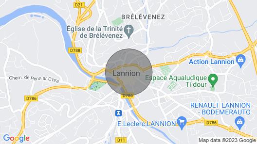 The Blue House LA Maison Bleue, 2 Bedrooms - 4 People Map