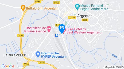 Sure Hotel by Best Western Argentan Map