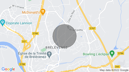 Vacation Home Kalon Roz in Lannion - 7 Persons, 3 Bedrooms Map