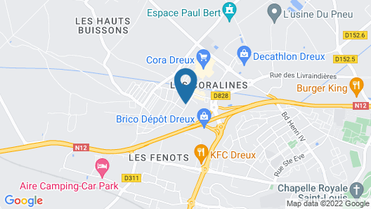 The Originals City, Hôtel des Lys, Dreux (Inter-Hotel) Map