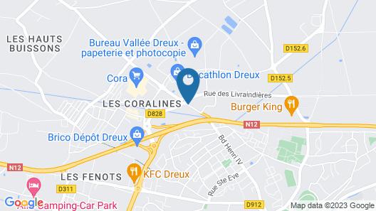 Kyriad Direct Dreux Map