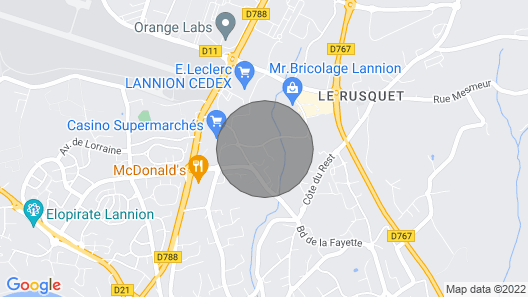 Comfort Apartment in Lannion - Sophie's Sweethome - 4 People Map