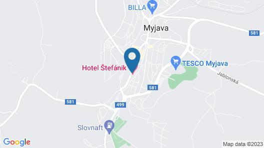 Hotel Štefánik Map
