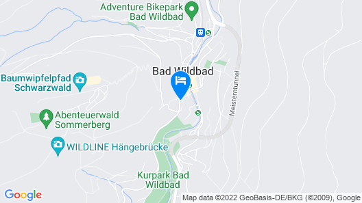 Pension Silberburg Bad Wildbad Map