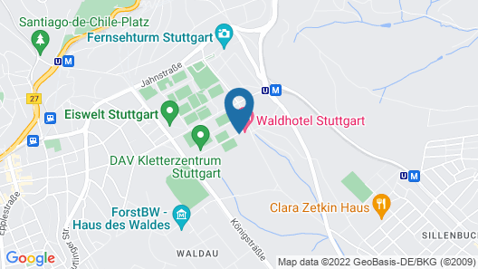 Waldhotel Stuttgart Map