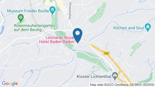 Leonardo Royal Hotel Baden-Baden Map