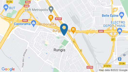 Best Western Plus Paris Orly Airport Map