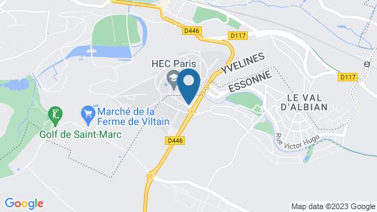 Best Western Plus Paris Saclay Map