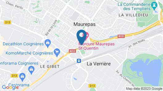 Mercure Maurepas Saint Quentin Map