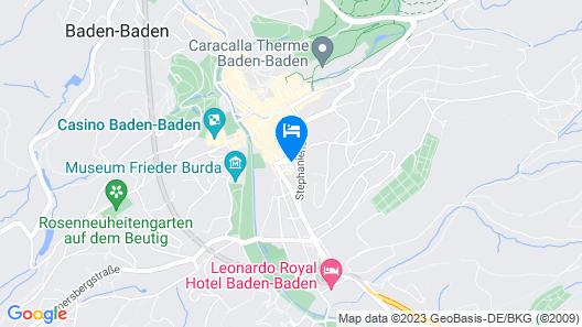 Boutique Hotel Rose Baden-Baden Map