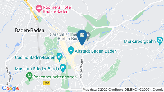 Hotel Am Friedrichsbad Map