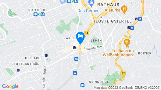 Park Inn by Radisson Stuttgart Map