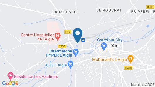 Gite L'aigle, 5 Bedrooms, 12 Persons Map