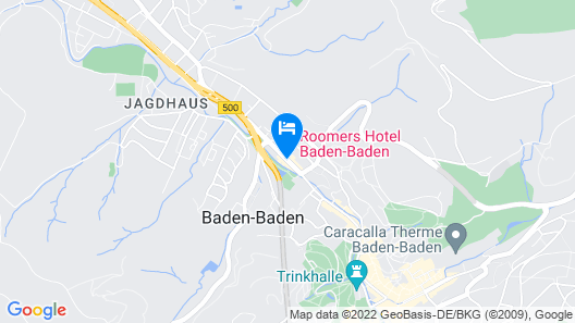 Roomers Baden-Baden, Autograph Collection Map