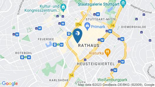 Novum Hotel Boulevard Stuttgart City Map