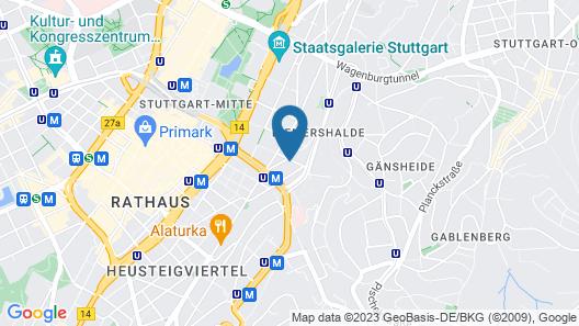 City Hotel Stuttgart Map